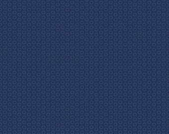 Circle Dots on Navy Blue by Riley Blake - C445-Navy