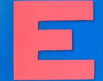 Eager E / original painting / 5064 / spell it out in three dimensions