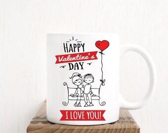 Happy Valentines Day Mug, I Love You mug, Valentines Coffee Cup, Valentines Gift, Happy Valentines Day, Cute Valentines Gift, I Love You