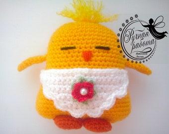 Easter chicken Easter Decorations Easter Chicken crochet bird Hen Bird Plush Toy Stuffed Animal Amigurumi Crochet Easter Bird