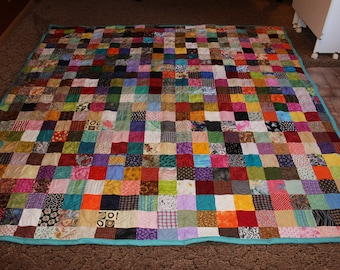 Custom King Quilt - Scrappy Patchwork Quilt - King Size Quilt / Custom Made Quilt - Full Payment