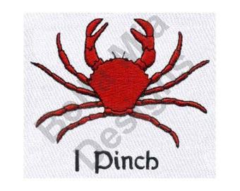 Crab - Machine Embroidery Design, I Pinch