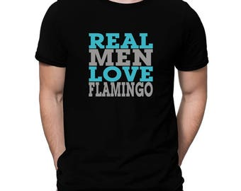 Real Men Love Flamingo T-Shirt