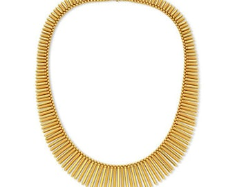Gold Fringe Necklace,Bib Necklace,Statement Jewelry,Wedding Jewelry,Summer Statement Necklace by Taneesi ZN248G