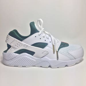 Custom Luxury Huarache, High End Inspired Nike Huarache Run Triple White,  Huarache custom,
