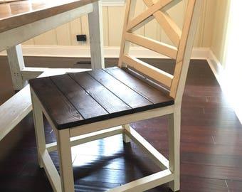 Farmhouse Dining Chair - Kitchen Chair - Rustic Chair