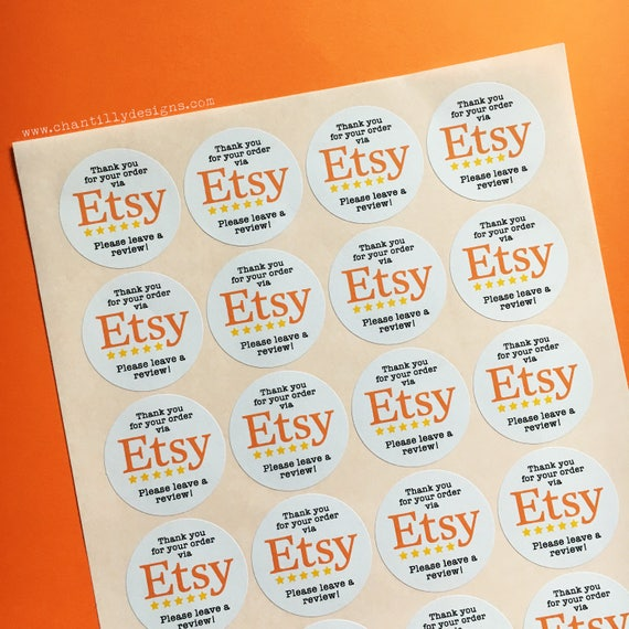 Etsy leave a review stickers etsy stickers sticky labels
