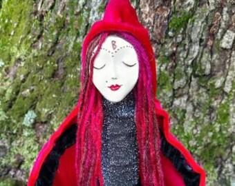 Witch Bottle Altar Spirit Doll- Amoretta