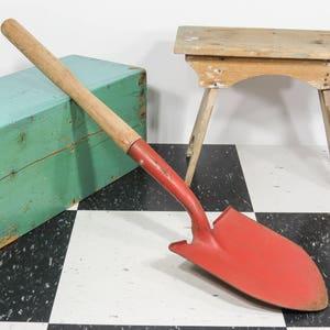 Vintage Small Gardening Shovel . Bright Orange Garden Tool . Made in U.S.A. Circa 1950s