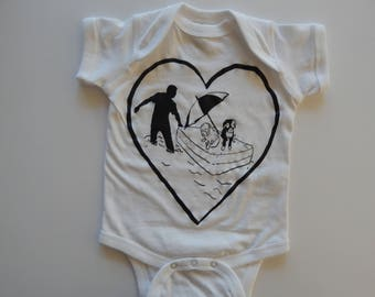 Baby one-piece RESCUE, Newborn-24 mos, 50% of the proceeds from this t-shirt will be donated to animal rescue organizations