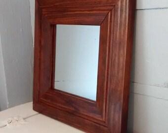 Vintage, Mirror, Square Mirror, Wood Frame, Wall Mirror, Accent Mirror, Entrance Mirror, Rustic, Mid Century, RhymeswithDaughter