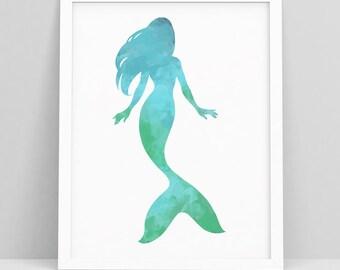 Mermaid Art Kid Wall - Mermaid Print - Mermaid splash - Mermaid Art Poster - Mermaid Prints Art - Mermaid Wall Art - Mermaid Art Print