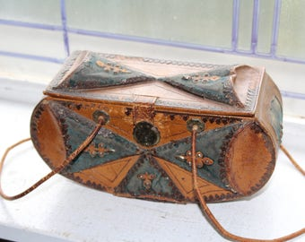 Antique Victorian Purse 1800s Steampunk Accessory
