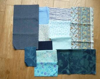 set of 150 patchwork fabrics coupons