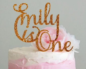 Personalized Cake Topper Name Birthday Cake Topper Custom Cake Topper First Birthday Cake Topper  Birthday Decorations Centerpiece Topper