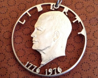 Eisenhower dollar coin 1976 pendant