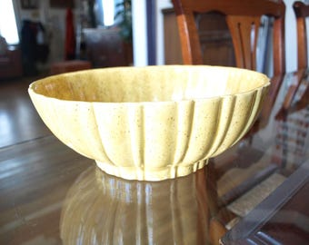 1970's Haeger Mustard Yellow Oval Ceramic Planter USA 4020B