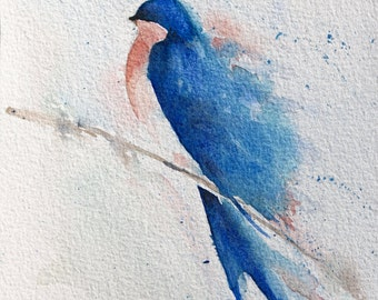 Blue Swallow Bird1