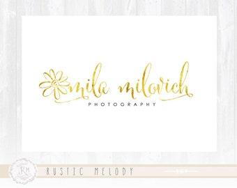 Photography Logo Design Gold Foil Logo Boutique Logo  Decor Logo Design Watermark