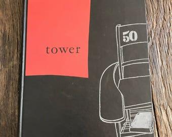 Antique Yearbook - 1950 University Of Detroit Yearbook - Vintage University Of Detroit Tower Yearbook - Detroit University Yearbook