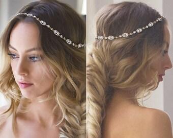 bohemian wedding hair accessories, gold bridal headpiece, wedding accessories, Bridal hair accessories, bridal Headpiece, H206-G