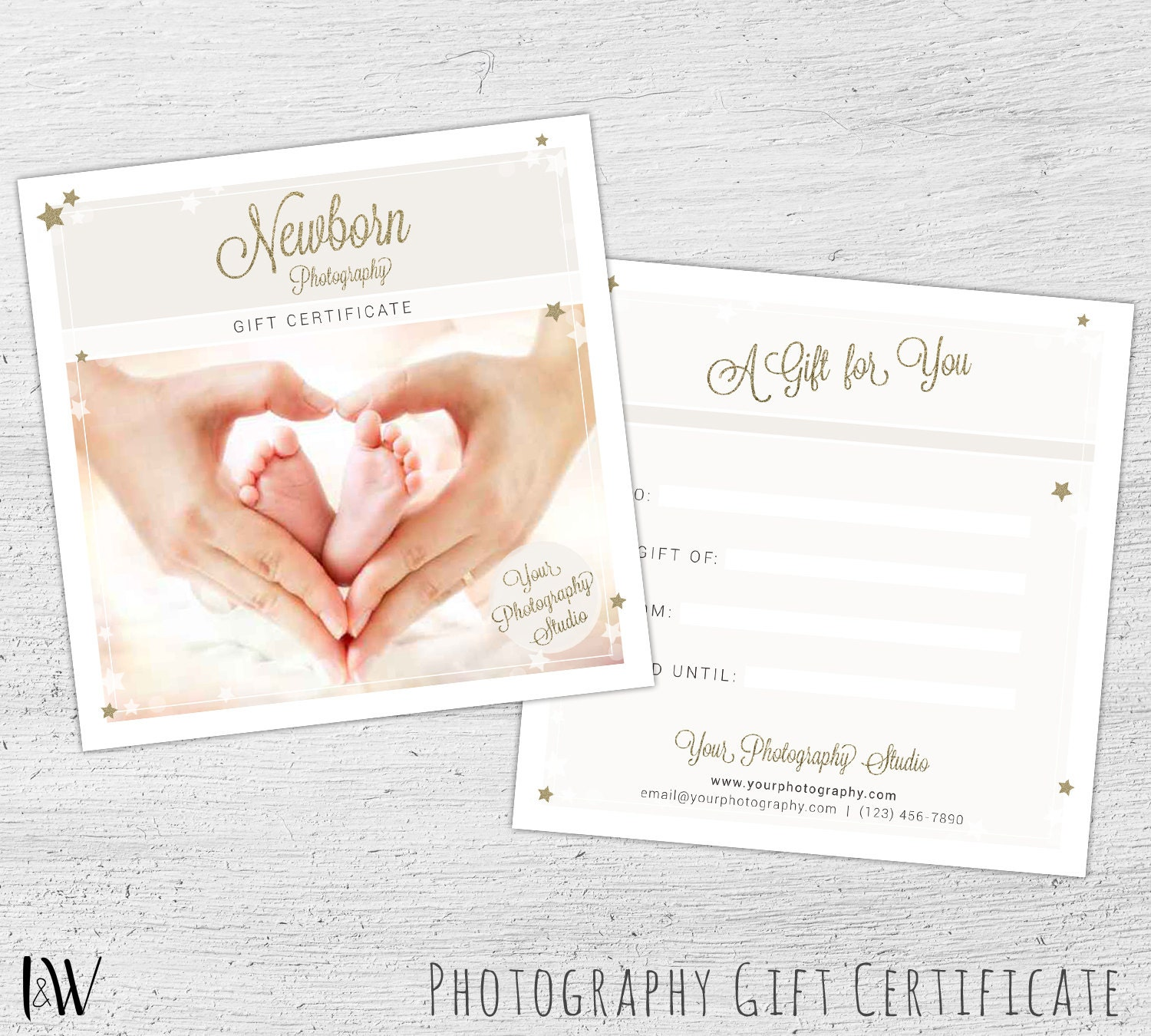 Photography gift card template newborn photography gift zoom yadclub Images