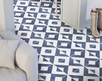 Modern - Floor Tile Decals - Flooring - Vinyl Floor - Bathroom flooring - Kitchen Flooring - Tile Stickers - Tile Decals -  SKU:GEOPTST
