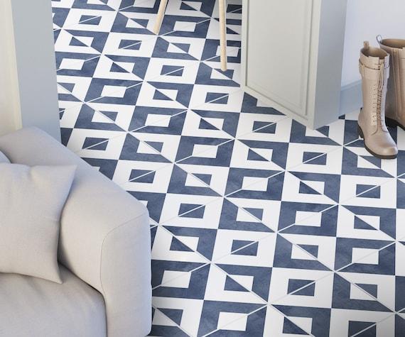 Modern Floor Tile Decals Flooring Vinyl Floor Bathroom