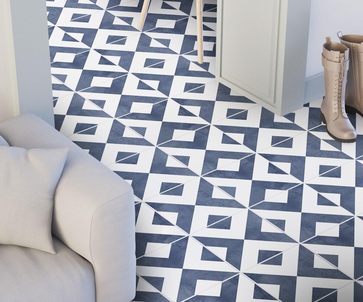 Modern floor tile decals flooring vinyl floor bathroom zoom dailygadgetfo Image collections