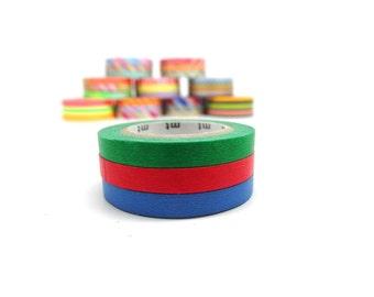 MT Slim Basic Washi Tape Set Pattern H