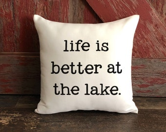 Cabin Decor / Lake House Decor / Fishing Decor / Gift for Parents / Lake Cabin Pillows / Lake Home Decor / Beach House Decor / Gift for Mom