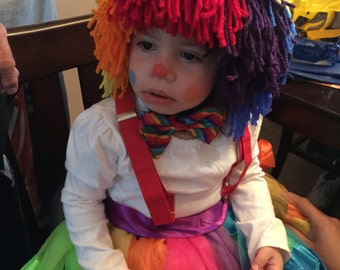 Clown Beanie/ Hat / Wig - Any Size