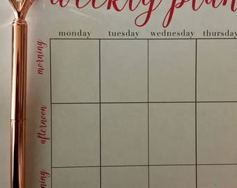 Weekly Planner Printable (Pink)