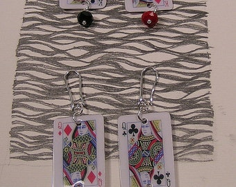 Games, Burraco, lightweight pendant earrings, (medium and small type)