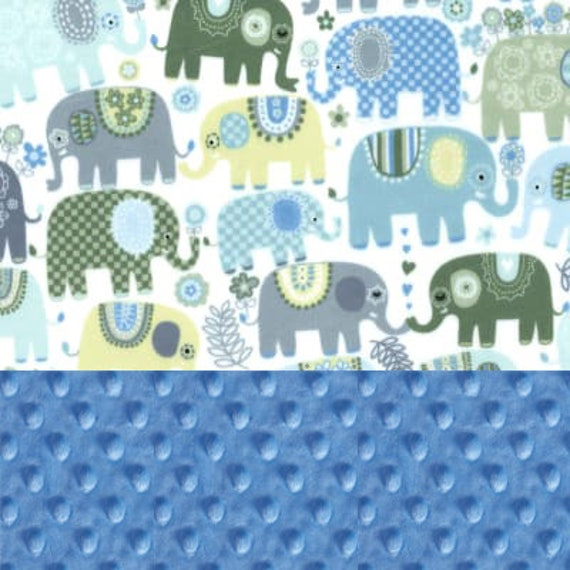 Elephant Minky Baby Blanket Boy, Blue Gray Personalized Blanket, Animal Baby Blanket, Receiving Blanket, Name Baby Blanket Baby shower gift
