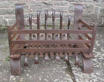 Vintage Traditional Hand-forged iron Fire Basket