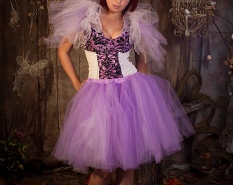 Romance adult tutu tulle skirt knee length poofy petticoat costume dance bridal wedding purple formal --You Choose Size- Sisters of the Moon