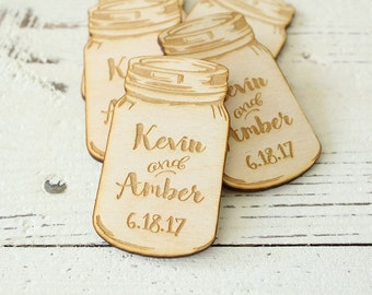 Mason Jar Wedding Favors Engraved Mason Jars