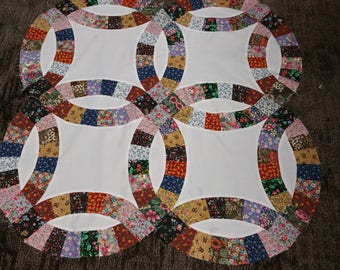 Double Wedding Ring Queen Size Quilt Kit
