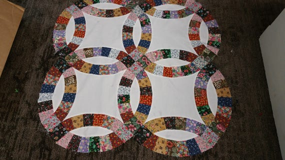 Double Wedding Ring King Size Quilt Kit