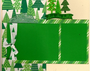 Deck the Halls - Christmas  Layout  2 Page Scrapbooking Kit