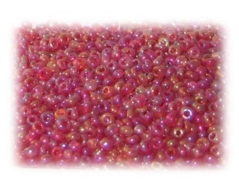 11/0 Berry Rainbow Luster Glass Seed Beads - 1 oz. Bag