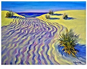Beach House Decor, Beach Wall Decor, Beach Art, Seascape, Seashore Print, Tidal Etchings, Coastal Art, Coastal Wall Art, Gulf Coast, KORPITA