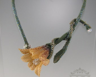 Sunrise Lily Necklace - Beading Pattern/Tutorial Downloadable PDF