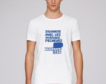 T-Shirt men may 1968 - solidarity with fishermen - limited edition - poster poster may 68