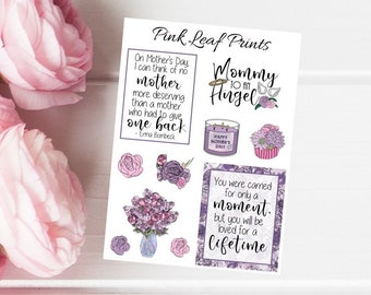 Mother's Day | Angel Baby | Mini Deco Planner Sticker Sheet
