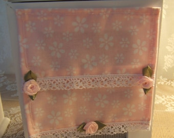 Miniature pink cotton STORE printed lace DollHouse