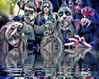 Zombie River-Feast, The walking dead zombie zombies zombie art zombie life