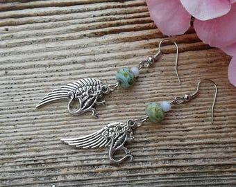 Country Western Earrings Angel Wing Earrings Lizard Earrings Gecko