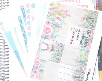 Emma Erin Condren vertical planner stickers weekly stickers Secret Garden matte & glossy stickers